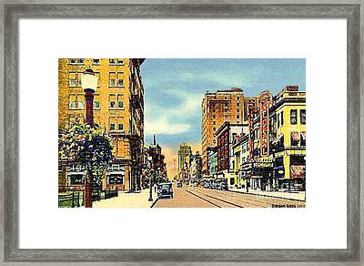 The Colonial Theatre On Hamilton St. In Allentown Pa Around 1935 Framed Print