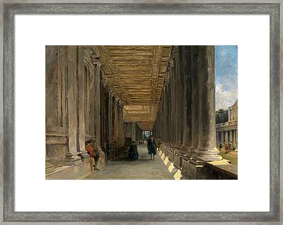 The Colonnade Of Queen Marys House, Greenwich Framed Print by Litz Collection