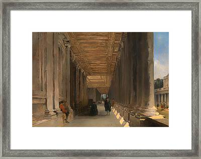 The Colonnade Of Queen Mary's House In Greenwich Framed Print by Mountain Dreams