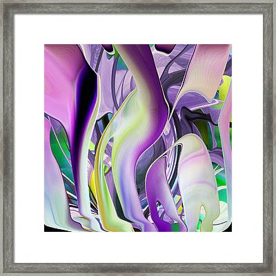 The Color Of Iris - Digital Abstract Art Framed Print