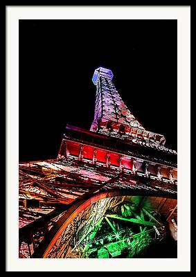 Metal Structure Digital Art Framed Prints