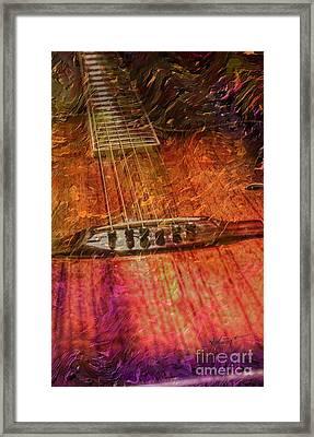 The Color Of Music Digital Guitar Art By Steven Langston Framed Print by Steven Lebron Langston