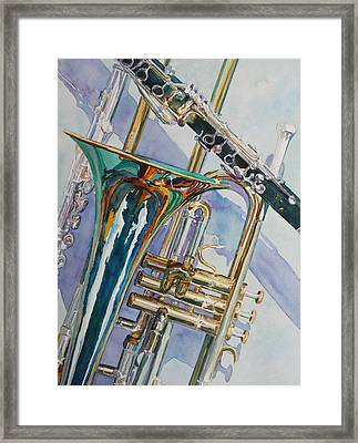 The Color Of Music Framed Print by Jenny Armitage