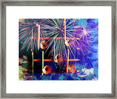 The Color Of Music Framed Print by Jill Bartlett