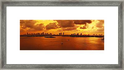 The Color Of Passion Framed Print by Michael Guirguis
