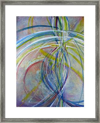 Framed Print featuring the painting The Color Of Sound by John Fish