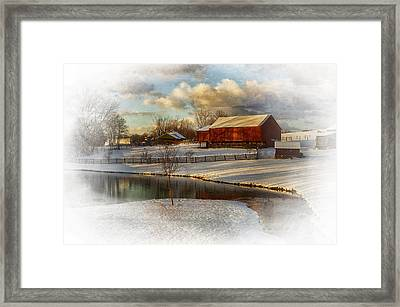 The Color Of Winter Framed Print by Kathy Jennings