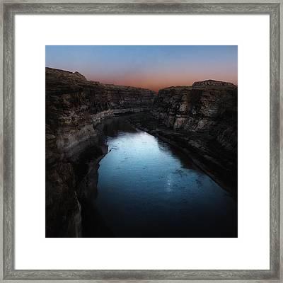 The Colorado River A Hite Crossing  Framed Print