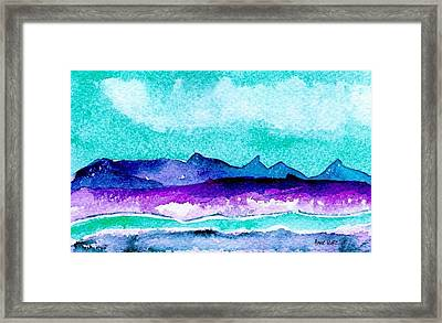 Framed Print featuring the painting The Colorado River by Anne Duke