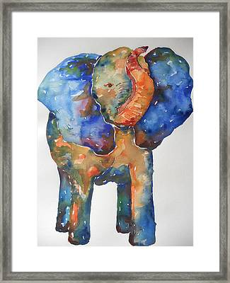 The Colorful Elephant Framed Print by Brandi  Hickman