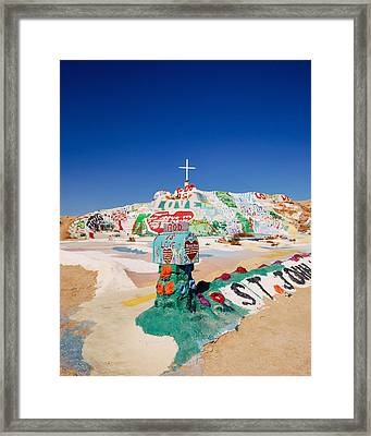 The Colorful Mountain Framed Print