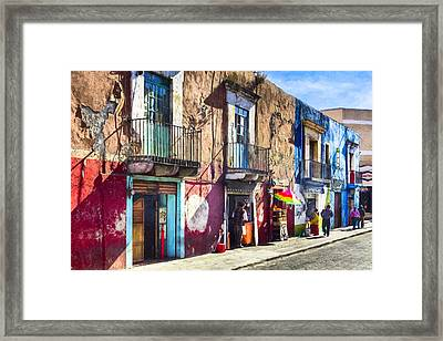 The Colorful Streets Of Puebla Mexico Framed Print by Mark E Tisdale