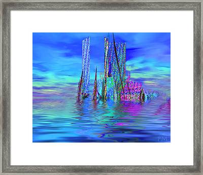 The Colors Have Went Out To Sea. Framed Print