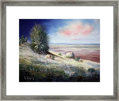 Framed Print featuring the painting The Colors Of Evening by Roena King