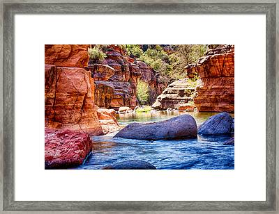 The Colors Of Oak Creek Framed Print by Fred Larson