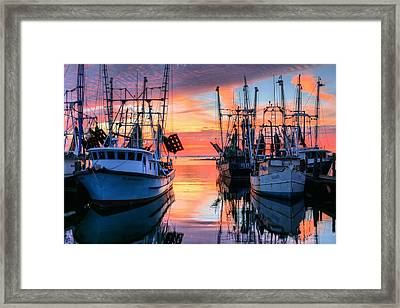 The Colors Of Pensacola Bay Framed Print