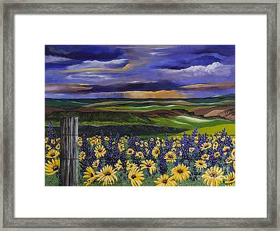 The Colors Of The Plateau Framed Print