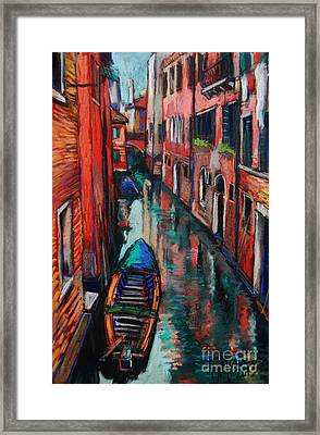 The Colors Of Venice Framed Print by Mona Edulesco