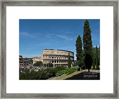 The Colosseum In Rome Framed Print by Kiril Stanchev