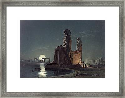 The Colossi Of Memnon, Thebes, One Framed Print by Carl Friedrich Heinrich Werner