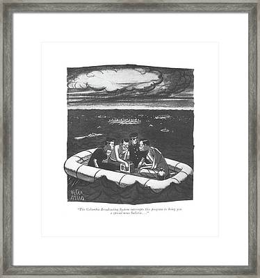 The Columbia Broadcasting System Interrupts This Framed Print by Peter Arno
