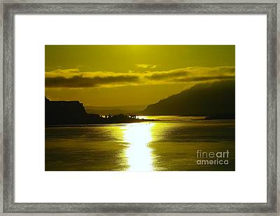 The Columbia River In The Morn   Framed Print by Jeff Swan