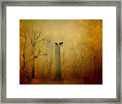 The Column Framed Print by Gothicrow Images