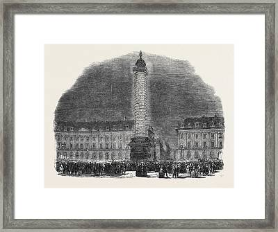 The Column In The Place Vendome, Illuminated Framed Print