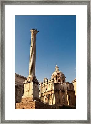 The Column Of Phocus Framed Print
