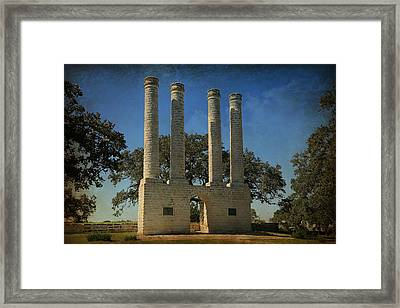 The Columns Of Old Baylor At Independence -- 3 Framed Print by Stephen Stookey