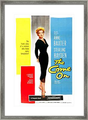 The Come On, Us Poster, Anne Baxter Framed Print by Everett