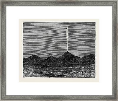 The Comet In The Southern Hemisphere As Viewed Framed Print by English School