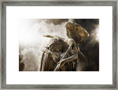 The Comforting Light Framed Print