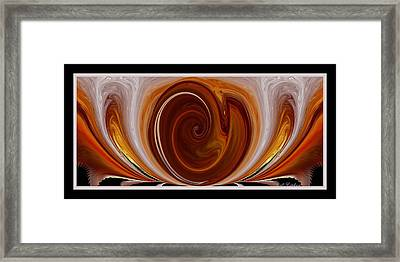 Framed Print featuring the digital art The Coming Child by rd Erickson