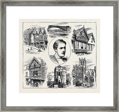 The Coming Of Age Of Earl Grosvenor, Views In Chester Framed Print by English School