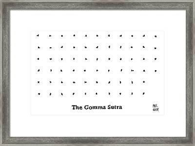 The Comma Sutra. Images Of Commas In Different Framed Print
