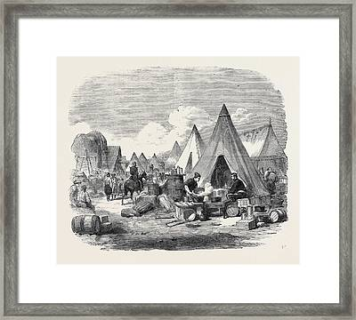 The Commissariat Camp In The Crimea Framed Print by English School