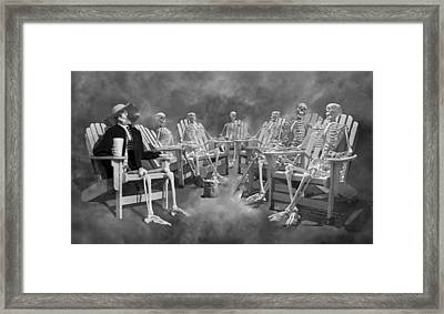 The Committee Reaches Enlightenment II Framed Print by Betsy Knapp