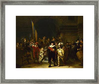 The Company Of Captain Banning Cocq. The Nightwatch  Framed Print
