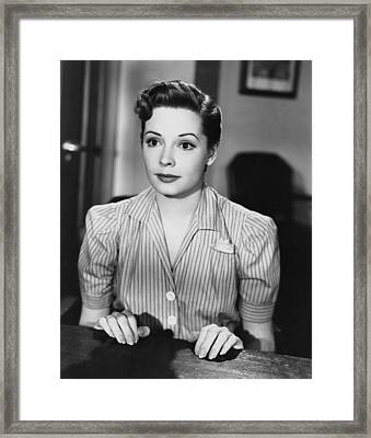 The Company She Keeps, Jane Greer, 1951 Framed Print
