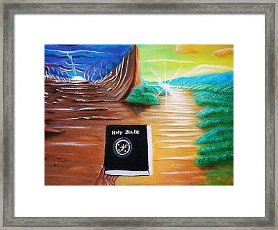 The  Compass Of Life. Framed Print by Roejae Baptiste
