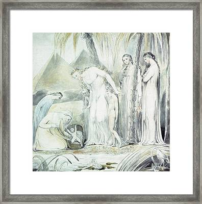 The Compassion Of Pharaohs Daughter Or The Finding Of Moses Framed Print by William Blake