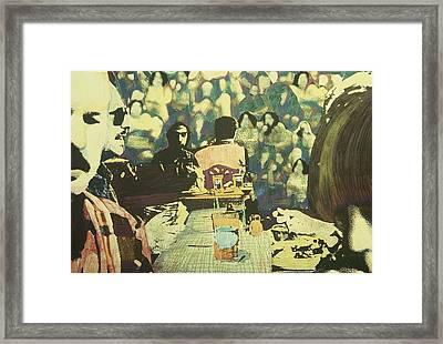 The Competitive Lunch Framed Print