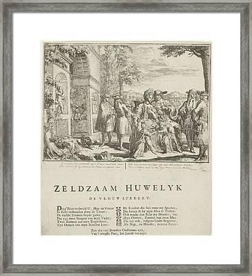 The Complicated Marriage, Romeyn De Hooghe Framed Print by Romeyn De Hooghe And Samuel Sylvius And P. Van Torenburg