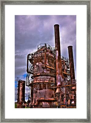 The Compressor Building At Gasworks Park - Seattle Washington Framed Print by David Patterson