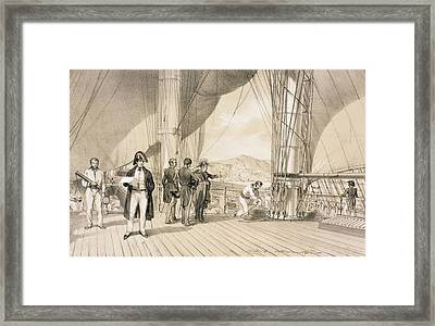 The Comte De Bourmont And Admiral Framed Print by Antoine Leon Morel-Fatio