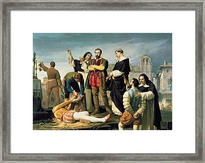 The Comuneros Juan De Padilla 1490-1521 Juan Bravo And Francisco Maldonado At The Scaffold, 1860 Framed Print