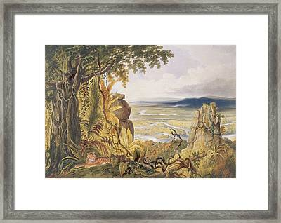 The Comuti Or Taquiare Rock Framed Print by Charles Bentley