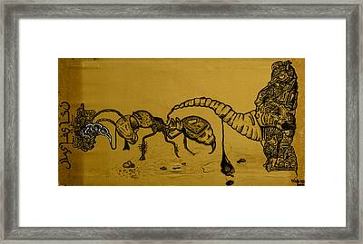 The Conception Of Picasso And Dali Framed Print by Nickolas Kossup