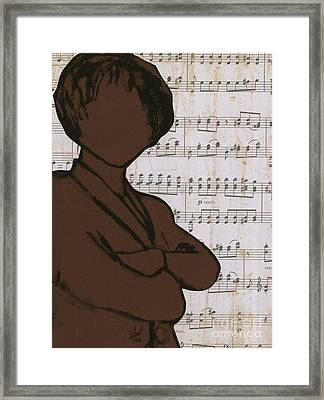 The Concert Critic Framed Print by Angela L Walker